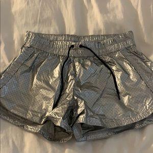 Converse metallic shorts